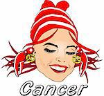 Woman Face Beauty Cancer Horoscope Stock Photo - Royalty-Free, Artist: icons                         , Code: 400-04320149