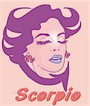 Woman Face Beauty Scorpio Horoscope zodiac seria Stock Photo - Royalty-Free, Artist: icons                         , Code: 400-04320157