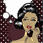 Comics style girl woman Stock Photo - Royalty-Free, Artist: icons                         , Code: 400-04320175