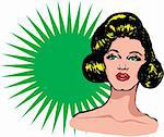Cool Popart Woman Stock Photo - Royalty-Free, Artist: icons                         , Code: 400-04320251
