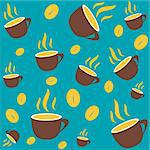 Coffee seamless Stock Photo - Royalty-Free, Artist: icons                         , Code: 400-04320299