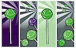 Pop Art comic style Banners set Lollipop Clipart Picture Stock Photo - Royalty-Free, Artist: icons                         , Code: 400-04320947