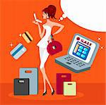 Online Shopping Stock Photo - Royalty-Free, Artist: icons                         , Code: 400-04320953