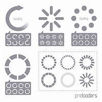 solarseven - Web 2.0 Vector Progress Loader Icons. A collection of vector internet progress loader icons Stock Photo - Royalty-Freenull, Code: 400-04321443