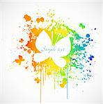 illustration with colorful butterfly paint stain. Vector Stock Photo - Royalty-Free, Artist: emaria                        , Code: 400-04322003