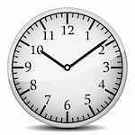 wall clock isolated on a white Stock Photo - Royalty-Free, Artist: yanas                         , Code: 400-04323445