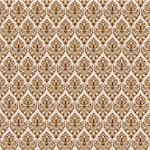 brown damask seamless texture, abstract pattern; vector art illustration