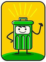 funny trash created by vector describe clean environment Stock Photo - Royalty-Freenull, Code: 400-04323567