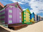 Colorful beach huts at Brighton Beach near Melbourne, Australia