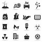 Clean and green environment related symbols Stock Photo - Royalty-Free, Artist: soleilc                       , Code: 400-04324881