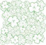 Background with sketch clovers for St.Patrick`s day, vector illustration Stock Photo - Royalty-Free, Artist: MarketOlya                    , Code: 400-04327693