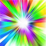 A multicolor design with a burst. EPS 8 vector file included