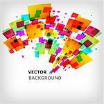 the abstract square colorful background - vector illustration Stock Photo - Royalty-Free, Artist: sdmix                         , Code: 400-04330381