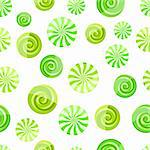 green mint striped candy seamless pattern on white background