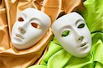 Theatre concept with the white plastic masks Stock Photo - Royalty-Free, Artist: ElnurCrestock                 , Code: 400-04331163