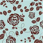 Seamless vector floral pattern. For easy making seamless pattern just drag all group into swatches bar, and use it for filling any contours. Stock Photo - Royalty-Free, Artist: angelp                        , Code: 400-04332204