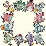 robot card Stock Photo - Royalty-Free, Artist: notkoo2008                    , Code: 400-04333194