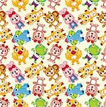 seamless animal pattern Stock Photo - Royalty-Free, Artist: notkoo2008                    , Code: 400-04333231