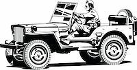 Vector  illustration of army off-road vehicle. Stock Photo - Royalty-Freenull, Code: 400-04333645