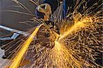 A man working with grinder, close up on tool, hands and sparks, real situation picture Stock Photo - Royalty-Free, Artist: Dan70                         , Code: 400-04334209