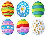 Various Easter eggs - vector illustration. Stock Photo - Royalty-Free, Artist: clairev                       , Code: 400-04334565