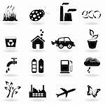 Eco symbols in icon set Stock Photo - Royalty-Free, Artist: soleilc                       , Code: 400-04334695