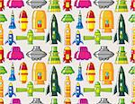 seamless Spacecraft pattern Stock Photo - Royalty-Free, Artist: notkoo2008                    , Code: 400-04335445