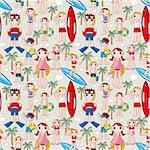 seamless summer people pattern Stock Photo - Royalty-Free, Artist: notkoo2008                    , Code: 400-04335528