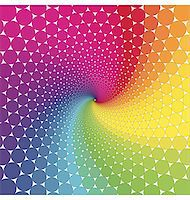 abstract design with geometric shapes optical illusion illustration Stock Photo - Royalty-Freenull, Code: 400-04335604