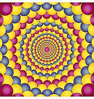 Abstract design with geometric shapes optical illusion illustration Stock Photo - Royalty-Freenull, Code: 400-04335610