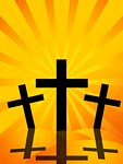 Good Friday Easter Day Crosses with Sun Rays Background Illustration Stock Photo - Royalty-Free, Artist: Davidgn                       , Code: 400-04336024