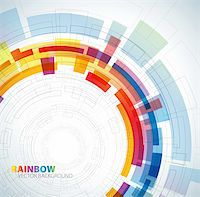 Abstract background with rainbow colors and place for your text Stock Photo - Royalty-Freenull, Code: 400-04336841