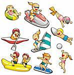 cartoon water sport icon Stock Photo - Royalty-Free, Artist: notkoo2008                    , Code: 400-04337091