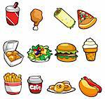 cartoon fast food icon Stock Photo - Royalty-Free, Artist: notkoo2008                    , Code: 400-04337093