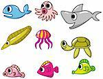 cartoon fish icon Stock Photo - Royalty-Free, Artist: notkoo2008                    , Code: 400-04337095