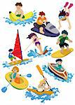 cartoon water sport icon Stock Photo - Royalty-Free, Artist: notkoo2008                    , Code: 400-04337099