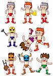 cartoon wrestler icon Stock Photo - Royalty-Free, Artist: notkoo2008                    , Code: 400-04337141