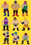 cartoon wrestler icon Stock Photo - Royalty-Free, Artist: notkoo2008                    , Code: 400-04337147