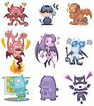 cartoon devil icon Stock Photo - Royalty-Free, Artist: notkoo2008                    , Code: 400-04337817