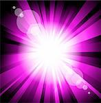 Abstract Light Colorful Explosion Purple Version