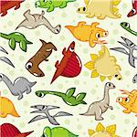 seamless dinosaur pattern Stock Photo - Royalty-Free, Artist: notkoo2008                    , Code: 400-04338765