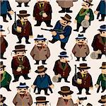 seamless mafia pattern Stock Photo - Royalty-Free, Artist: notkoo2008                    , Code: 400-04338825