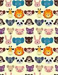 seamless animal face pattern Stock Photo - Royalty-Free, Artist: notkoo2008                    , Code: 400-04338833