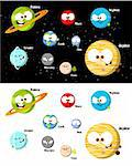 silly and cute cartoon planets Stock Photo - Royalty-Free, Artist: AlejandroRonay                , Code: 400-04339021