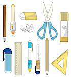 cartoon stationery icon Stock Photo - Royalty-Free, Artist: notkoo2008                    , Code: 400-04339451