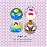 cartoon doll card Stock Photo - Royalty-Free, Artist: notkoo2008                    , Code: 400-04339457