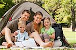 Family camping in the park Stock Photo - Royalty-Free, Artist: 4774344sean                   , Code: 400-04339500