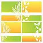 set of 4 modern leaves backgrounds