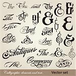 vector set: calligraphic vintage design elements and page decoration