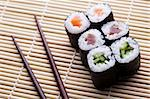 Traditional japanese food, Sushi Stock Photo - Royalty-Free, Artist: JanPietruszka                 , Code: 400-04340065